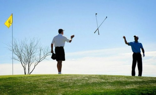 sports pictures - golf Club toss