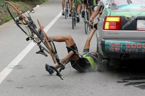 Oh My God_bicycle race accident