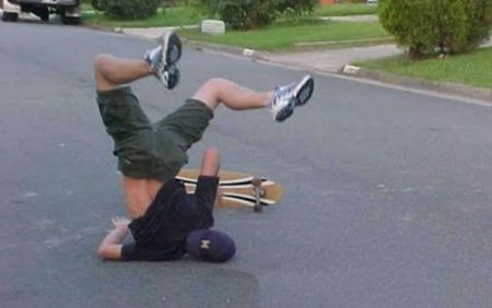 sports pictures - Oh My God_skateboard face plant