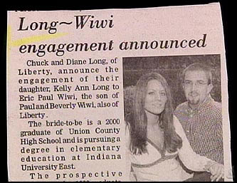 funny wedding announcements printed in the papers