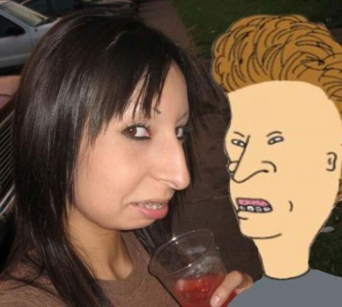 LOL pics - buttheads perfect girl - or is that beavis