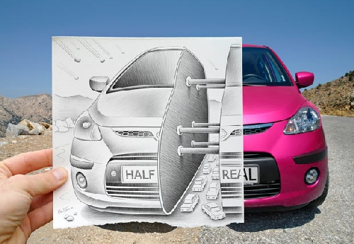The pencil art of Ben Heine - painter, illustrator, portraitist, caricaturist and photographer