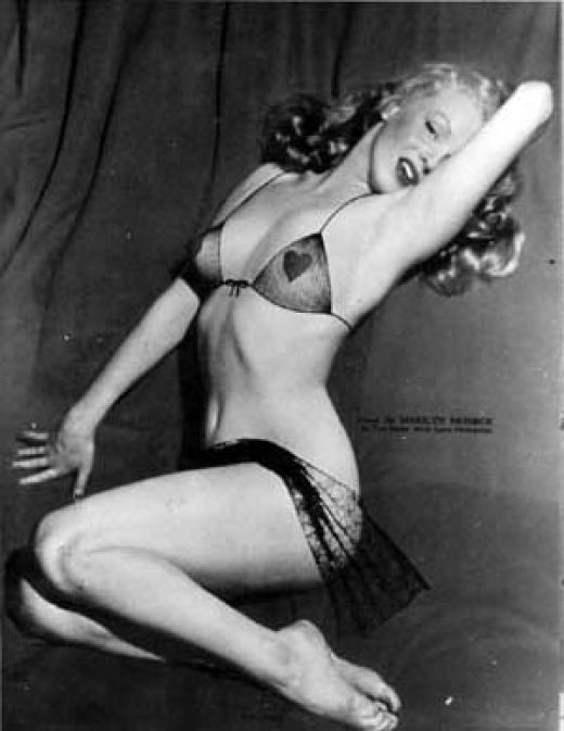 classic pin up girl Marilyn Monroe