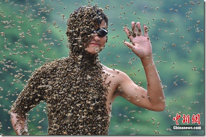 Covered in bees -The Bee Suit - Latest Fashion In Hunan
