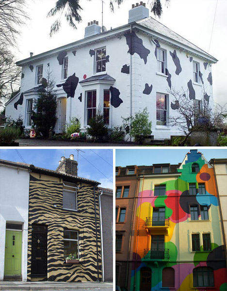 Extremely cool unique painting ideas for your house pix for Cool house exteriors