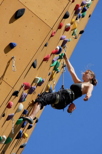 rock climbing training-worlds highest climbing wall