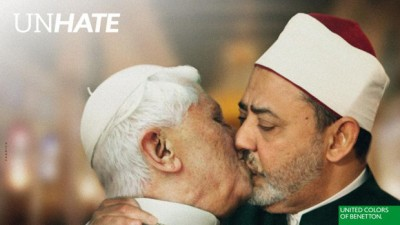 Pope kissing the Imam