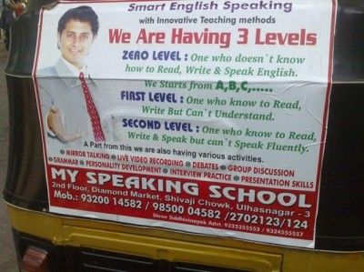 Not real good English teacher
