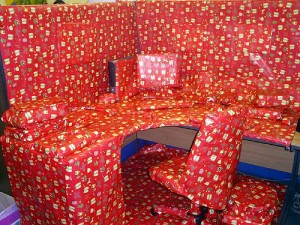 Office pranks - giftwrapped office