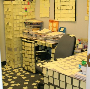 post it note office prank