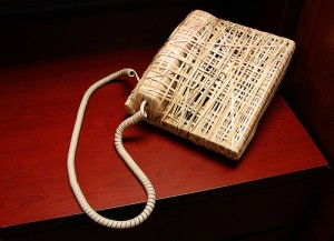 Office pranks - rubber band phone