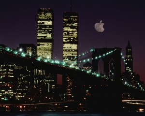 NYC: New York City big-apple moon