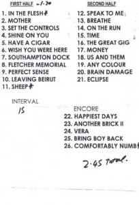 Rog Waters set list_berlin_june 2006