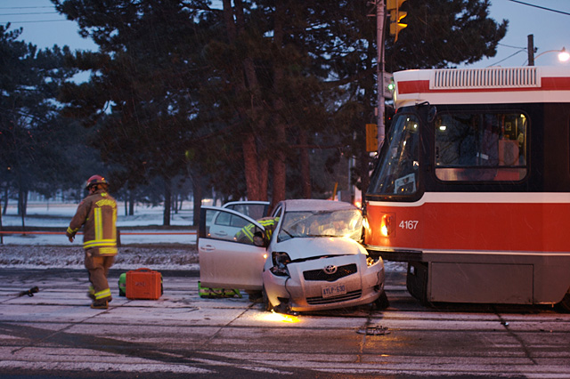 Street car and bus accidents