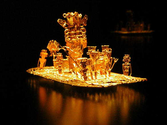 Muisca-the Legendary raft of El Dorado-Gold Offerings