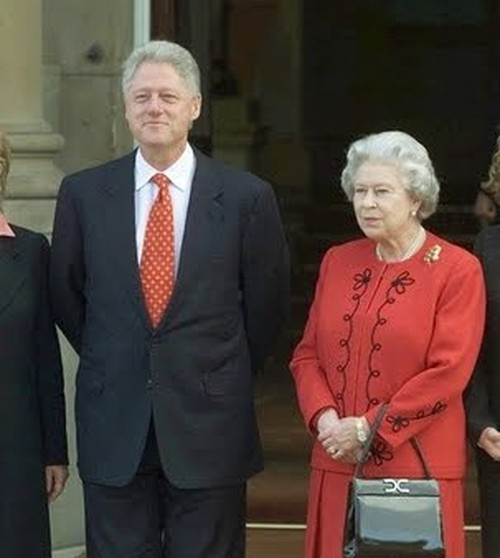 Her Majesty Queen Elizabeth II with President Bill Clinton