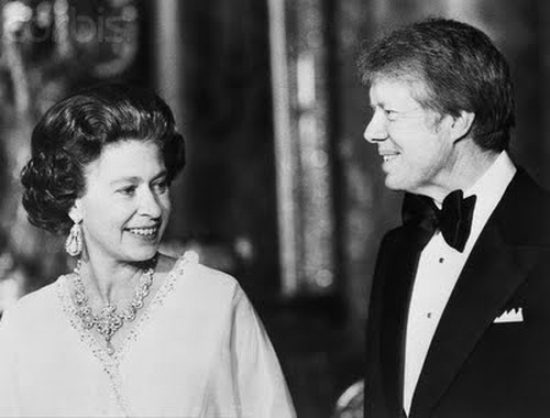 Her Majesty Queen Elizabeth II with President Jimmy Carter