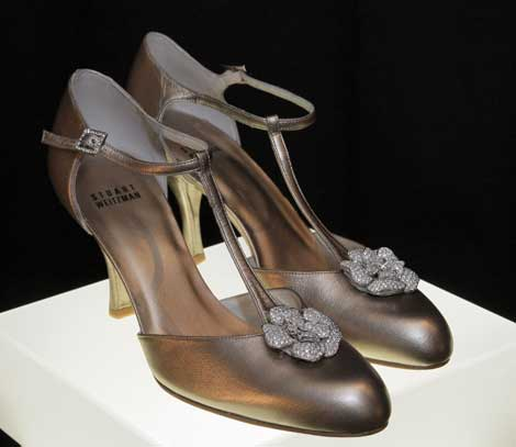 Retro Rose shoes by Stuart Weitzman
