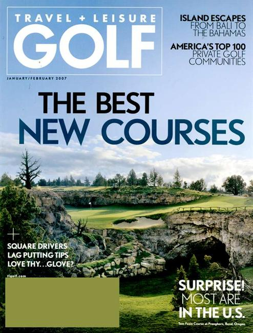 travel and leisure golf mag cover