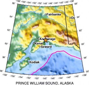 List o' Top 10 (Ten) Biggest Earthquakes of Modern Times - prince william sound alaska quake