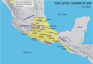 aztec empire map