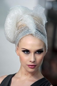 List o' Top 10 Uses for Bubble Wrap - Bubble Wrap hair appliance
