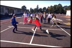 List o' 15 Games Kids Played Before the Internet: four square