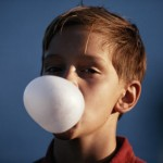 blowing a bubble - bubble gum