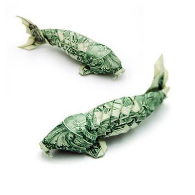 List Fish on Origami Money Fish   Lop     Lists O Plenty