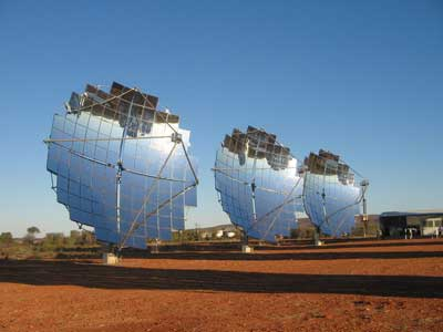 solar energy satellite dish collectors
