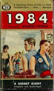 List o' 10 Books with Dystopian Themes - 1984 by George Orwell