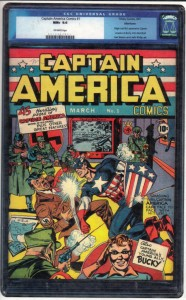 List o' 13 Most Valuable Comic Books - Captain America Comics #1