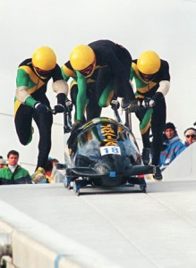 List o' 10 Great Winter Olympics Moments  - Jamaican bobsled team 1988