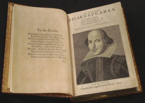 List o' 10 Rarest Printed Books - Shakespeare First Editions