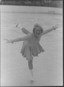 List o' 10 Great Winter Olympics Moments  - Sonja Henie fogure skating