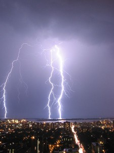 Lightning strike - what causes it