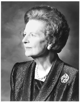 Margaret Thatcher - First female prime minister of the UK