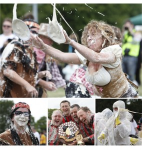 List of Bizarre Championships: Pie throwing championship