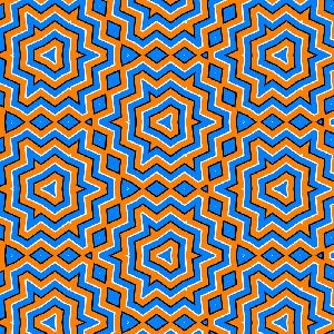 List of Optical Illusions - Tesselated colors in motion