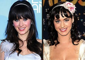 Zoey Deschanel and Katy Perry