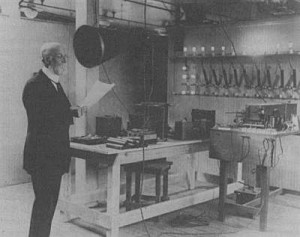 The first radio lecture Tufts University, 1922