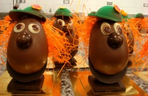 Chocolate Easter egg dudes