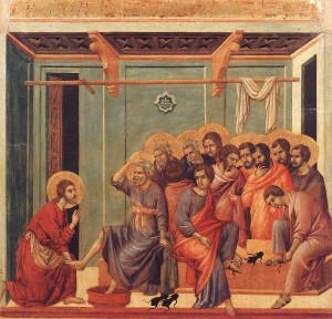 Holy Thursday foot washing - Maundy Thursday