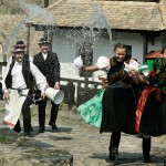 Hungarian Easter tradition throwing water on women