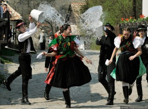 Hungarian Easter tradition - throwing water on women