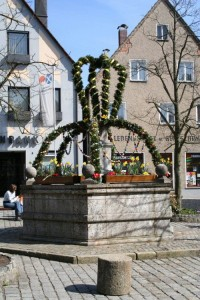 Swiss Easter well