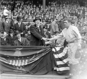 Yankee Stadium - Babe Ruth and President Harding opening day 1923