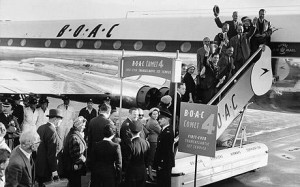 boac first transatlantic flight