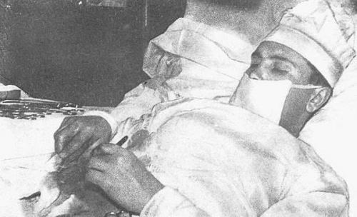 Dr. Leonid Rogozov removes his own appendix