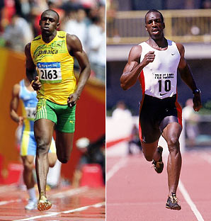 Michael Johnson vs Donovan Bailey